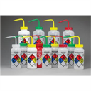 Right-to-Know, Safety-Vented Wash Bottles with GHS Labeling