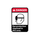 Danger, Eye Protection Required In This Area With Graphic Signs